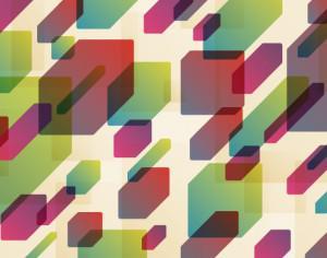 Colorful Floating Boxes Photoshop brush