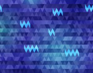 Triangles in Shades of Blue Photoshop brush