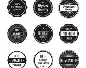 Badges vector set Photoshop brush