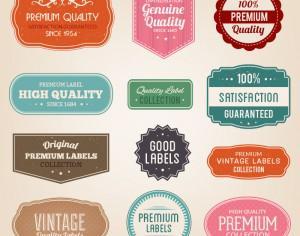 Badges vector set Photoshop brush