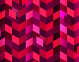 Red Squares in Perspective Photoshop brush