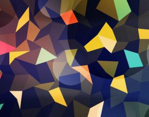 Colorful Polygons with Circles Photoshop brush