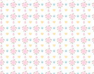 Flower pattern Photoshop brush