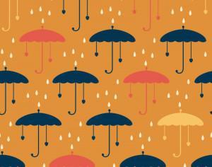 Umbrella pattern Photoshop brush