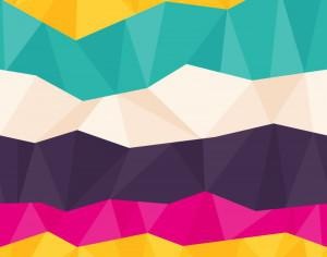 Colorful Polygon Pattern Photoshop brush