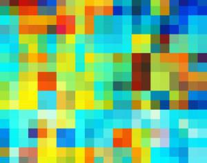 Colorful Pixel Pattern Photoshop brush