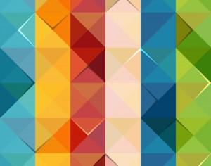 Colorful Triangle Pattern Photoshop brush