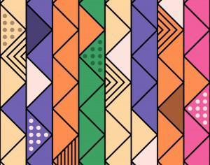 Colorful Retro Line Pattern Photoshop brush