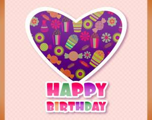 Happy birthday vector illustration Photoshop brush
