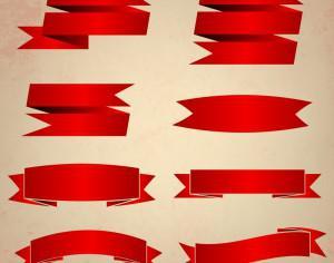 Vector set of ribbons Photoshop brush