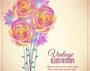 Vintage flower illustration Photoshop brush