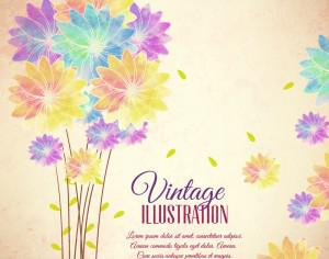 Vintage flower illustration Photoshop brush