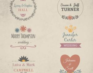 Wedding vector illustration Photoshop brush