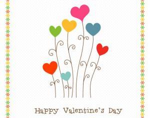 Happy Valentine's Day Photoshop brush
