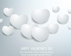 Happy Valentine's Day vector illustration Photoshop brush