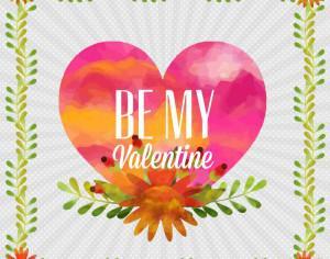 Happy Valentine's Day vector illustration Photoshop brush