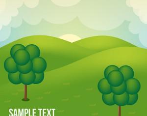 Landscape illustration Photoshop brush
