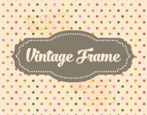 Vintage Template Background Photoshop brush