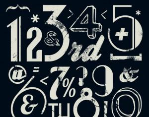 Various Vintage Number Collection Photoshop brush