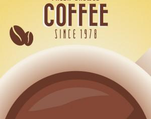 Vintage Coffee Background with Typography Photoshop brush