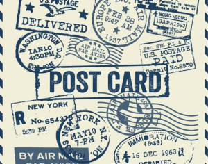 Various Visa Stamps Background Photoshop brush