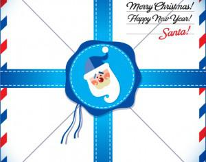 New Year Card. Letter to Santa. Photoshop brush