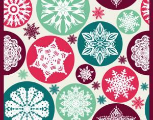 Christmas snowflake pattern. Photoshop brush