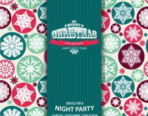 Christmas snowflake pattern. Invitation card. Photoshop brush