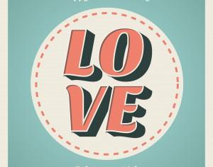 Valentines day typographic background Photoshop brush