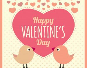 Valentines Card Background with Birds and Text Photoshop brush