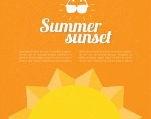Summer background with text Photoshop brush
