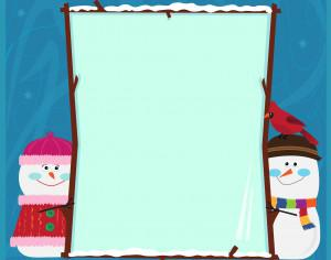 Snowman Banner Photoshop brush
