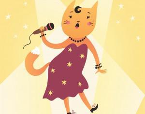 Cat singer Photoshop brush