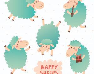 Happy sheeps Photoshop brush