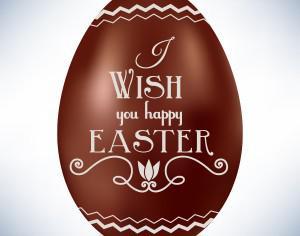 Easter illustration with chocolate egg Photoshop brush
