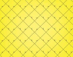 Yellow Squares Pattern With Scissors Photoshop brush