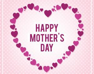 Happy Mothers's Day Typo With Heart Photoshop brush