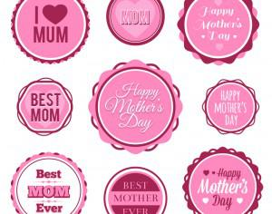 Mother's Day Badges And Labels Photoshop brush