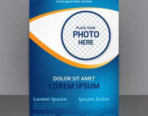 Business Abstract Flyer Template With blue Background Photoshop brush