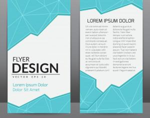 Flyer Template With Blue Polygonal Background Photoshop brush