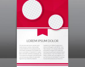 Red Flyer Template With Polygonal Background Photoshop brush