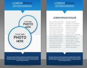 Blue Flyer Template Photoshop brush