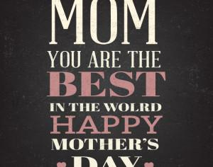 Happy Mother's Day Typography On Blackboard With Chalk Photoshop brush