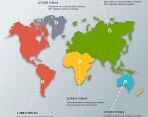 World Map Infographic Photoshop brush