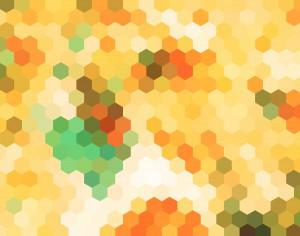 abstract yellow hexagon pattern background Photoshop brush