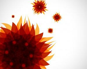abstract brown flower pattern  Photoshop brush