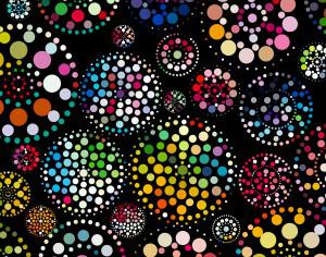 abstract colorful dots pattern background Photoshop brush