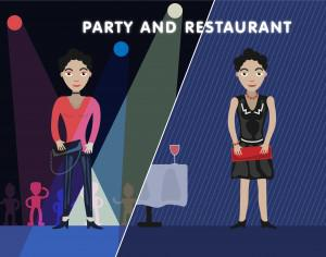 Party girl editor vector character illustration Photoshop brush