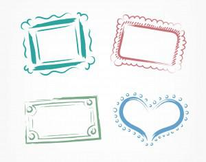 Vector decoration frames for birhday or wedding design Photoshop brush