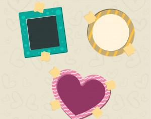Vector decoration frames for birhday or wedding design Photoshop brush
